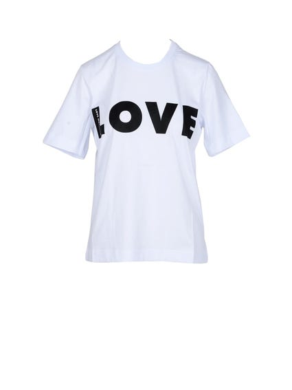 White Crew Neck Love T-shirt