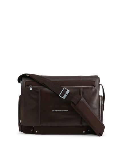Brown Pocket Zip Crossbody Bag
