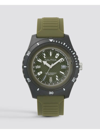 Military Green Resin Watch