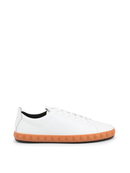 White Two Tone Sneakers