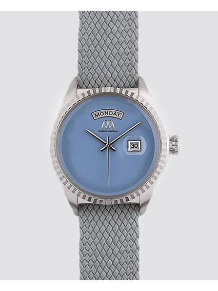 Grey Quartz Analog Watch