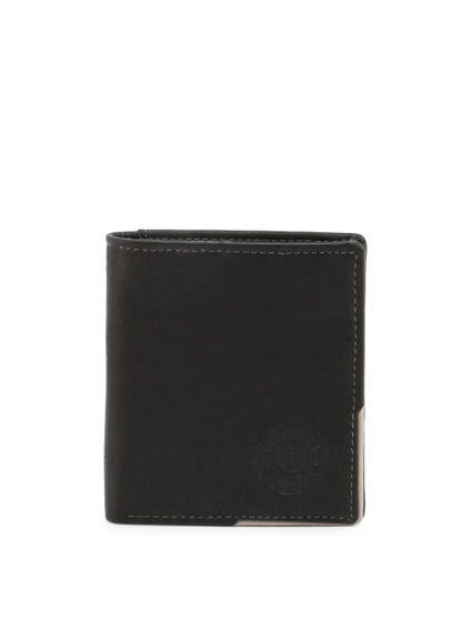 Black Leather Classic Bi Fold Wallet