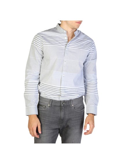 Collar Button Striped Long Sleeve Shirt