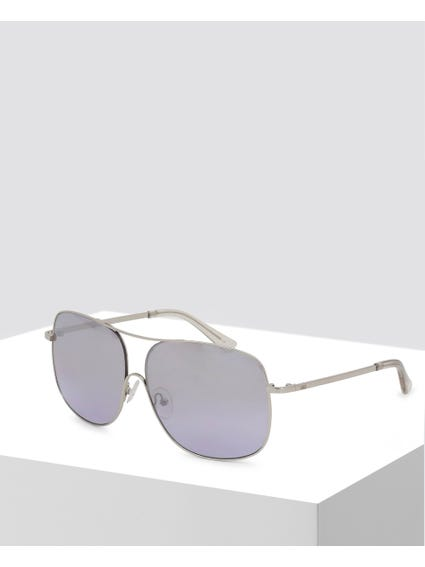 Grey Metal Gradient Sunglasses