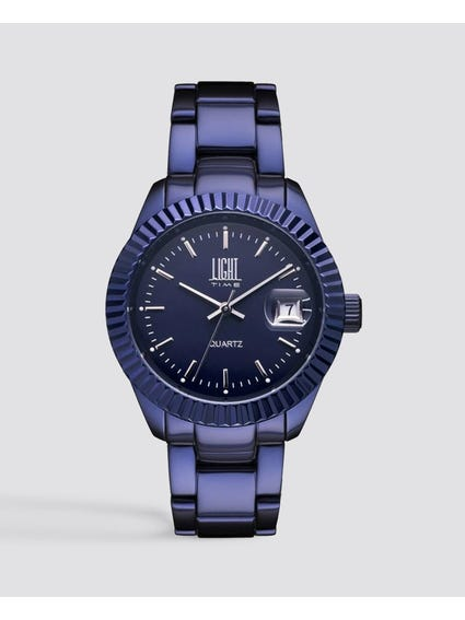 Blue Metal Strap Analog Watch