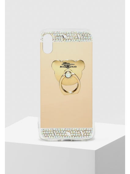 Gold Sequin Embellished iPhone X Cover