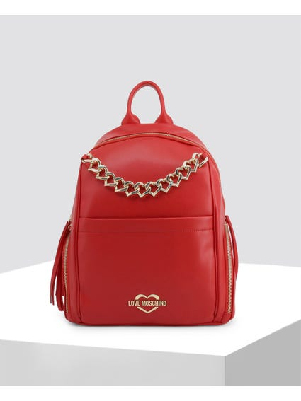 Red Heart Chain Backpack