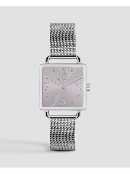 Grey Dial Rectangular Watch