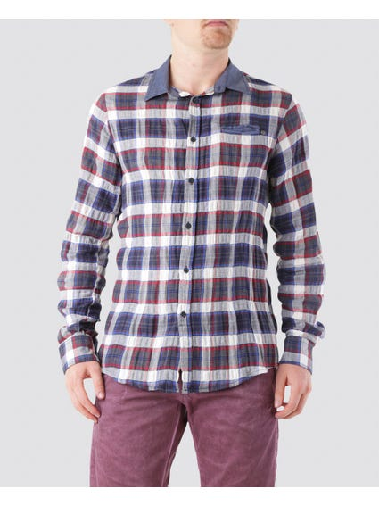Checked Button Pattern Shirt