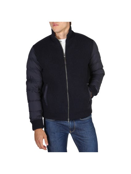 Nylon Zipped Bomber Jacket
