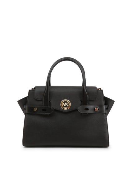 Black Two Handel Magnetic Handbag