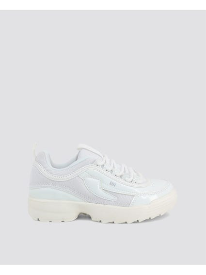 White Chunky Kid Sneakers