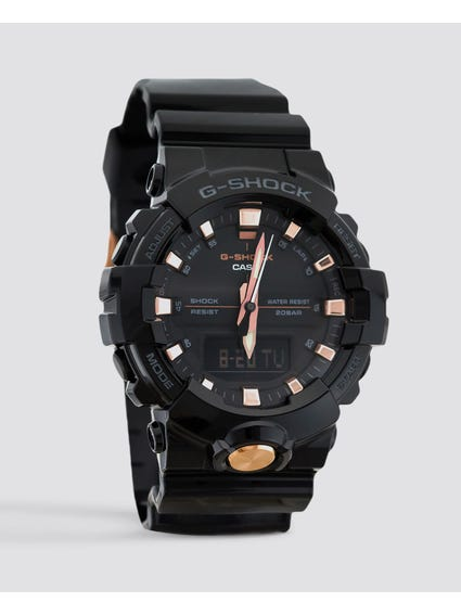 Black Glossy Analog Watch