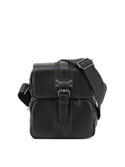 Black Devon Magnetic Buckle Crossbody Bag