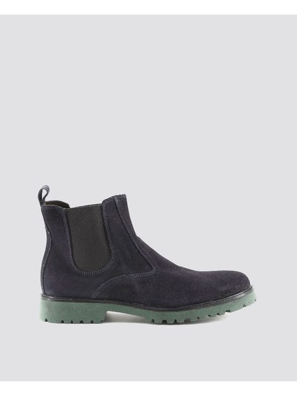 Blue Filippo Elasticated Insert Ankle Boots