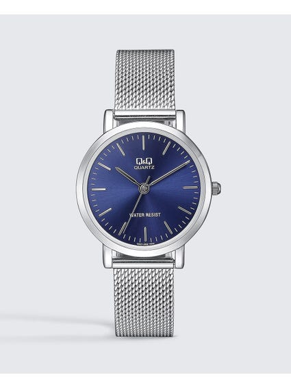 Blue Dial Stainless Mesh Watch