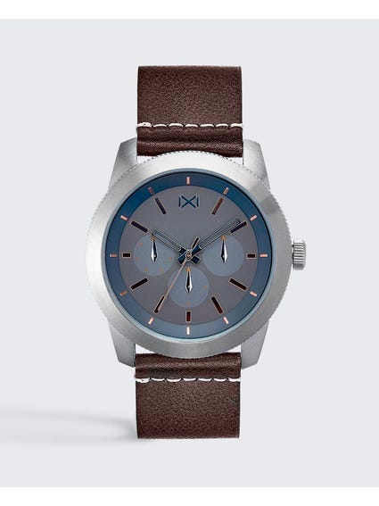 Grey Dial Analog Watch