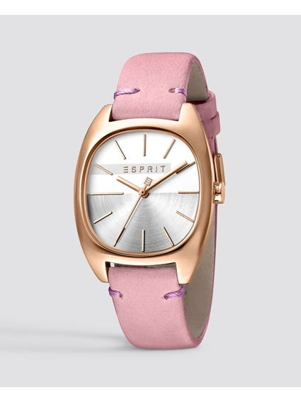 Pink Quartz Analog Watch