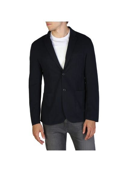Long Sleeve Collar Button Blazer