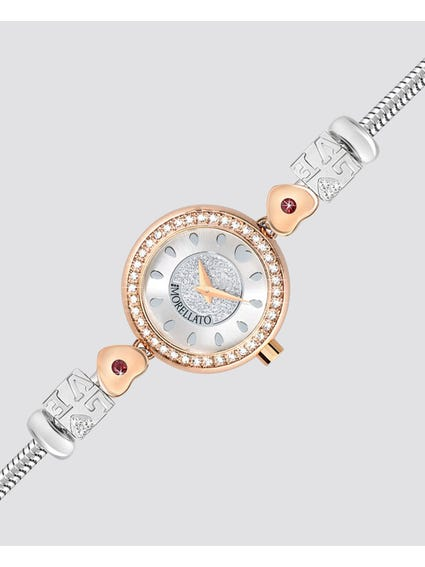 Drops Jewelled Metal Band Analog Watch
