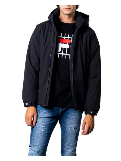 Button Sleeve Hooded Jacket