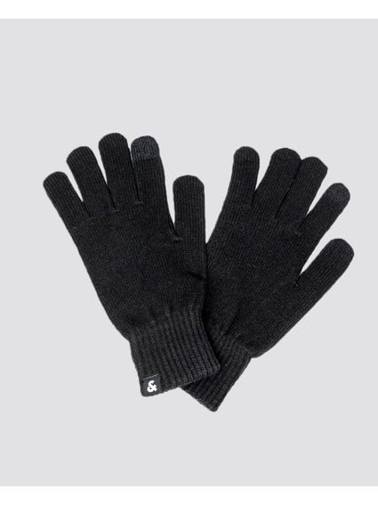 Black Barry Knitted Gloves