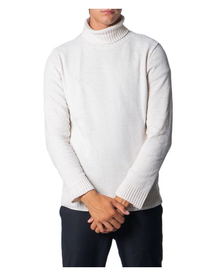 White Turtleneck Long Sleeve Knitwear