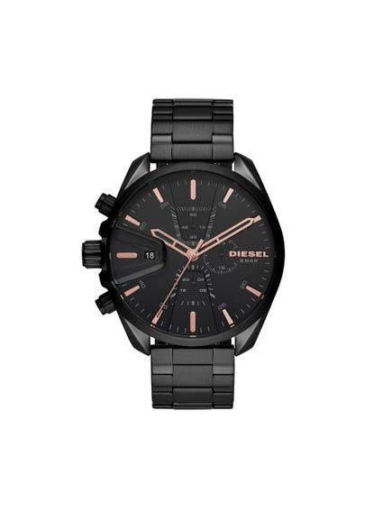 Black Dial Chronograph Steel Watch