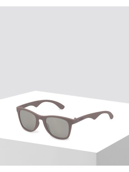 Pink Curve Temple Square Sunglasses