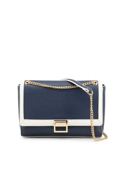 Blue Ondina Metallic Chain Across Bag