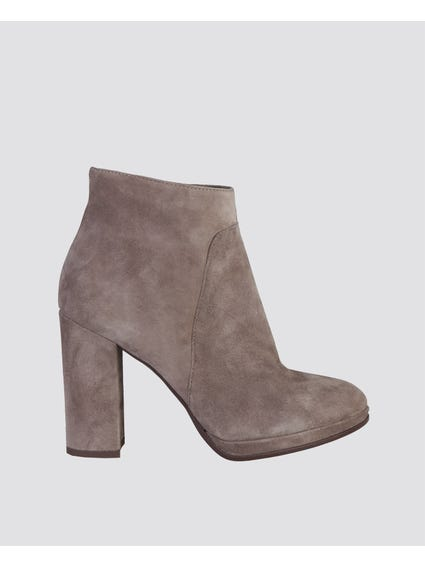 Giustina Zipper Ankle Boots