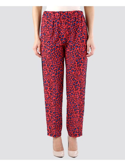 Red Chic Printed Pants