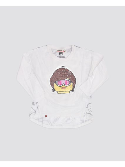 Girl Printed Long Sleeves Kids Top