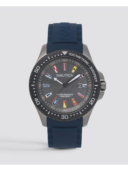Navy Jones Beach Silicone Watch