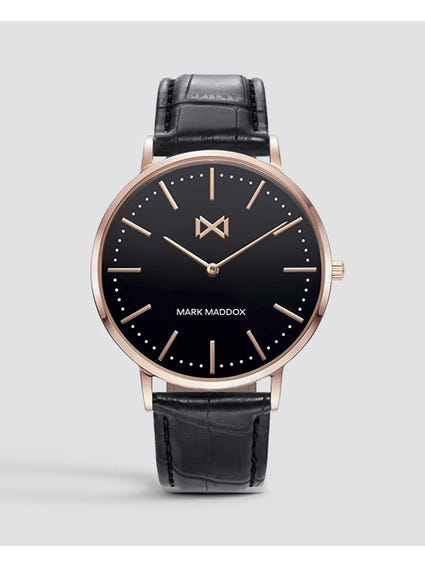 Black Dial Analog Watch