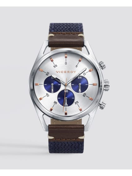 Blue Timeless Nylon Strap Watch