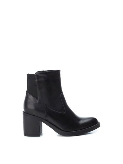 Round Toe Elastic Ankle Boots
