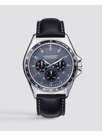 Classic Quartz Black Leather Watch