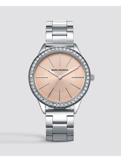 Silver Stone Analog Watch