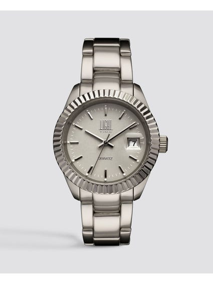 Silver Metal Strap Analog Watch