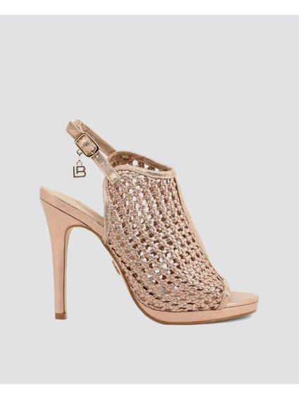 Pink Cut Out Detailed High Heel Sandals