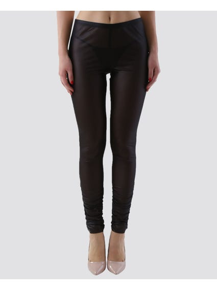 Elasticated Solid Leggings