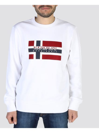 White Bovicoc Round Neck Sweatshirt