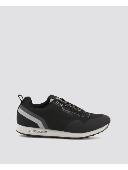 Black Flash Two Stripe Sneakers
