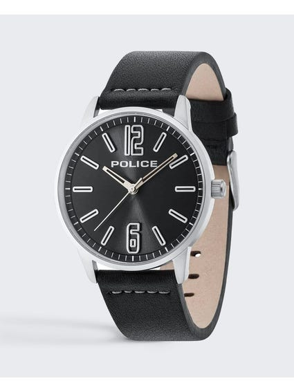 Three Hand Leather Watch
