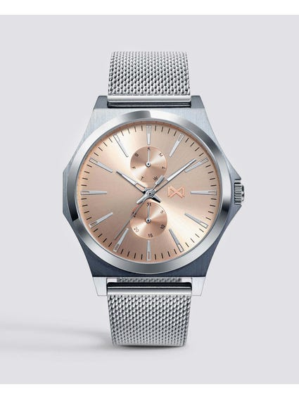 Silver Classic Stainless Steel Watch