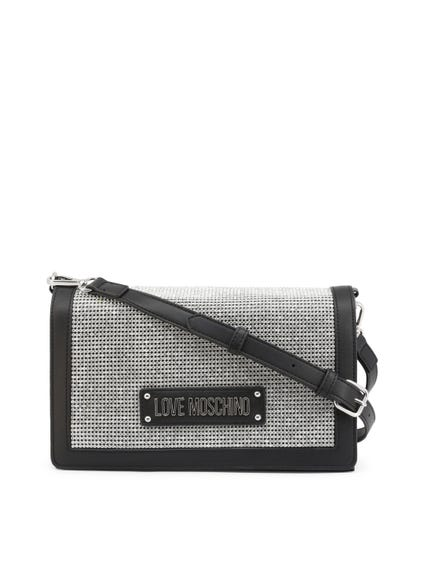 Black Synthetic Leather Clutch Bag