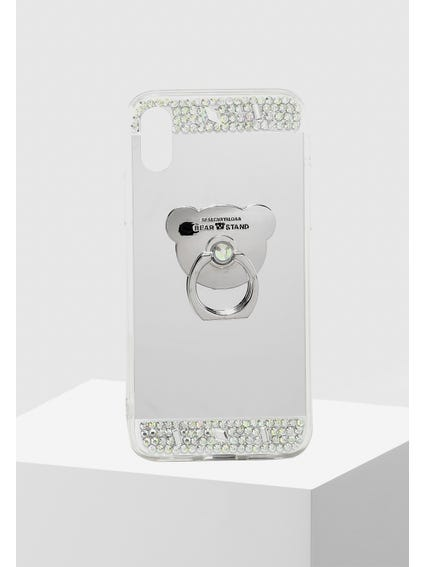 Silver Sequin Embellished iPhone X Cover