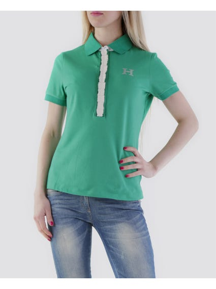 Green Cover-up Buttons Polo Shirt