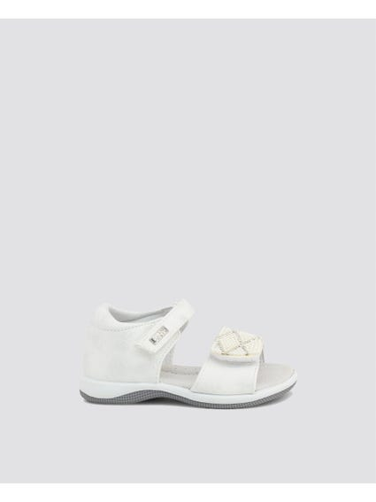 White Velcro Kids Sandals